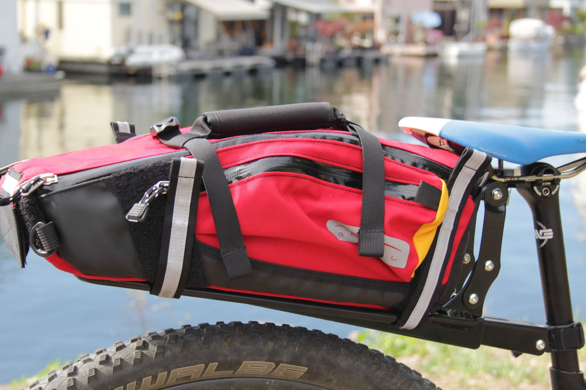 Arkel TailRider Trunk Bag on Arkel Seatpost Rack