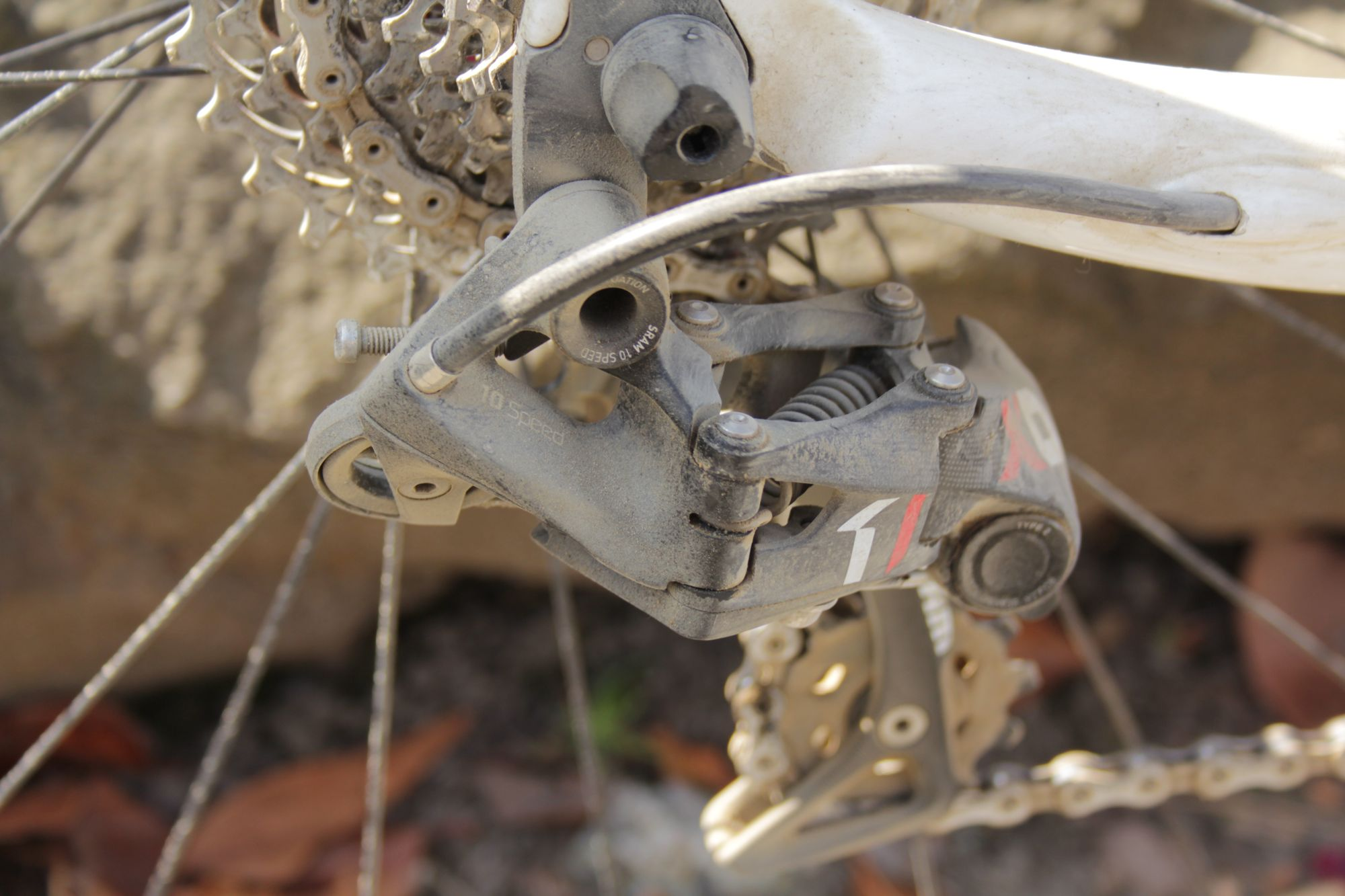 SRAM X01 DH/10sp derailleur on Redline Conquest CX