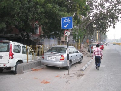 dehli bike lanes