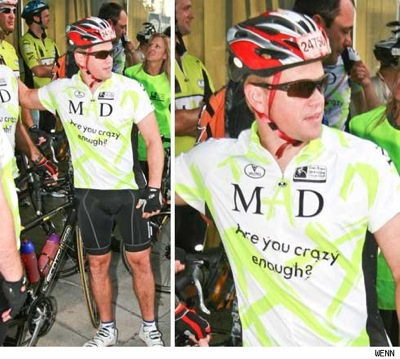 matt damon fat. Matt Damon Rides for Charity