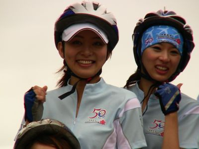 Stewardesses on bikes 02.jpg