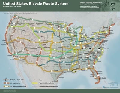 US Bicycle Route System Bike Hugger - Us bicycle route system map