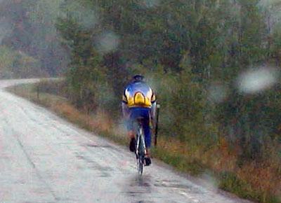 Riding In The Rain Bike Hugger