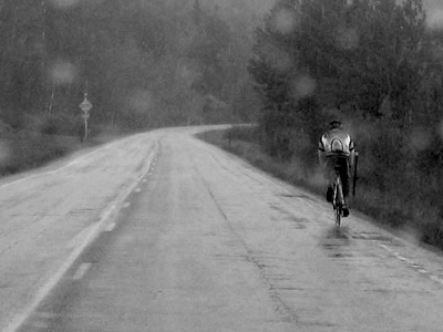 bicycle in rain