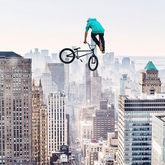 Flatland freestyle in the sky